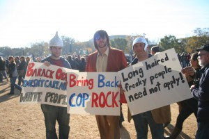 Supporting Cop Rock at the Rally For Sanity